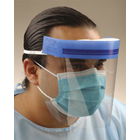 Crosstex Full Face Shield, Clear. 24/Box. Full length face shield provides increased level