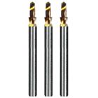 Dedeco Goldie Carbide Drills, Titanium Nitride coating, Complete Kit of 3