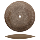 Dedeco Knife-Edge Rubber Wheels Brown Aluminum Oxide Extra Long-Lasting for Finishing