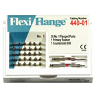 Flexi-Flange Red #1 Stainless Steel Post Economy Refill: 30 serrated posts with flange, 1 primary
