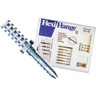 Flexi-Flange Titanium Introductory Kit: Yellow #0, Red #1 and Blue #2. 12 titanium serrated posts