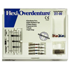 Flexi-Overdenture 4 Posts Stainless Steel Introductory Kit: 4 Overdenture Posts