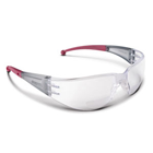 Atom Safety Glasses, 2.5X Magnification Power, Unilens design with wide translucent temples