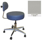 Galaxy Doctor's Stool-Round Seat with Comfortable Back Support - Cloud Grey Color. 16