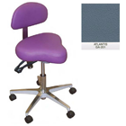 Galaxy Hygienist Stool with Back Support - Atlantis Color. With 2-way adjustable height and back