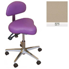 Galaxy Hygienist Stool with Back Support - Bone Color. With 2-way adjustable height and back tilt