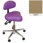 Galaxy Hygienist Stool with Back Support - Cinnamon Color. With 2-way adjustable height and back