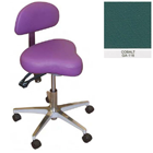 Galaxy Hygienist Stool with Back Support - Cobalt Color. With 2-way adjustable height and back