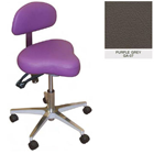 Galaxy Hygienist Stool with Back Support - Purple Grey Color. With 2-way adjustable height