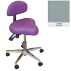 Galaxy Hygienist Stool with Back Support - Stormy Color. With 2-way adjustable height and back