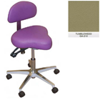 Galaxy Hygienist Stool with Back Support - Tumbleweed Color. With 2-way adjustable height and back