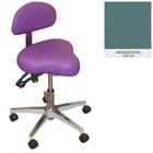 Galaxy Hygienist Stool with Back Support - Wedgewood Color. With 2-way adjustable height and back