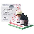 GC Fuji Plus 1:1:1 Package. Resin Reinforced Glass Ionomer Luting Cement, 1:1:1 Package: 15 Gm