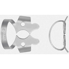 Hu-Friedy Satin Steel #3 Winged Flat Jawed, Small Molar Metal Rubber Dam Clamp, Single clamp