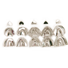 ProDent USA Impression Trays, Solid, Set contains 1 of each tray: Small Upper and Lower, Medium