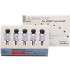 IPS e.max CAD CEREC Ivoclar MO Block, Shade 1 Size A14(L) 5/Pk. is a system of lithium disilicate