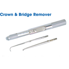 Johnson-Promident Crown/Bridge Remover with 2 Tips (Blunt tip A & Sickle tip B), Eliminate noise