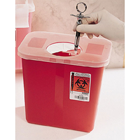 SharpStar 8 Qt. / 2-Gallon Sharps Container, Multi-Purpose with Rotor Lid, Red. Easy to assemble