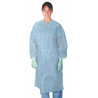 Medline Basic Polypropylene Isolation Gowns - Regular/Large Blue 50/Cs. Basic Cover Gowns. Sturdy