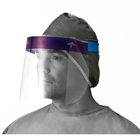 Medline Full Face Shields 96/Cs. Disposable, anti-fog, optically clear polyester. Elastic headband