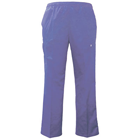 Meridian Scrubs Pants - Ceil Blue, Medium. Unisex Full Elastic Drawstring waist cargo scrub pants