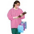 iSmile Lab Jacket - SMALL Purple - Hip Length 10/Pk. Made of a soft, breathable SMS fabric, these