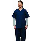 Silpure Scrub Bottom, Color: Navy Blue, Size Large, 65/35 Blend