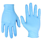House Brand Premium Nitrile Exam Gloves: Large, Blue, Non-Sterile, Powder-free, Soft EZ Stretch