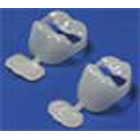 Nu-Crown Upper Right Medium Bicuspid Crown Refill Package, 5 Crowns per Pkg
