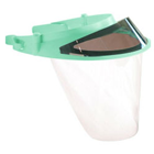 Op-d-Op II Visor Shield Kit, Mint Green. 1 Visor, 3 Shields, 1 Mini-Shield and 1 Light-Cure