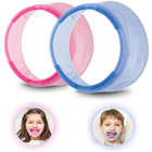 OptraGate Retractors - JUNIOR Blue and Pink Assortment, 40/Bx. Latex-free Lip and Cheek Retractors. 20 Blue and 20 Pink Retractors for Children. Unique ring design gently and evenly retracts lips and cheeks, providing a full view and better access to anterior and posterior teeth. Comfortable for patients to wear, even during long procedures. Soft, flexible Evoprene material offers 3-D flexibility and unimpeded jaw motion. Can be inserted and removed easily and quickly.