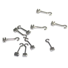 3B Orthodontic Long Curved Crimpable Hooks - Left 10/Bag. Our long curved split crimpable hooks