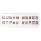 OrthoExtent Orthodontic Metal Brackets SOLAR Series (Nickel Free). MIM Perforated (BRSLR-R022)