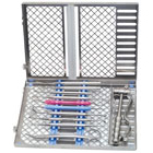 Osung Dental Instrument Cassette, EFECAN-12. Made of stainless steel and polished for rust free