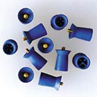 Densco Ribbed and Webbed, Screw Type Soft Blue with Skirt Prophy Cup, gross package of 144 cups