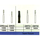 Great White Gold FG #GW1557 straight fissure restorative removal carbide bur, clinic pack of 100