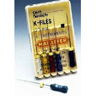 Maillefer K-Files 25mm #15-40 Assorted 6/Box. Stainless Steel