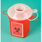 Plasdent Sharps Container 1-Quart 1/Pk. Features built-in hub wrenches to allow one-handed