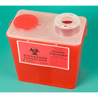 Plasdent Sharps Container 8-Quart 2/Pk. Features built-in hub wrenches to allow one-handed
