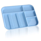 Plasdent Set-up Tray Divided Size B (Ritter) - Blue, Plastic