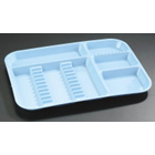 Plasdent Set-up Tray Divided Size B (Ritter) - Green, Plastic