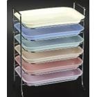 Plasdent Flat Tray, Size F (Mini) - Neon Green, Plastic, 9-5/8