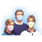 Tecnol Procedure Mask - Blue, Pleat-Style with Earloops, 3-Layer Construction, Latex-Free, BFE >