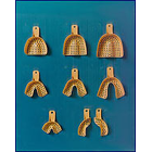 Tra-Ten #4 Small Lower Full-Arch, Beige Fully Perforated Plastic Impression Trays, Bag of 12