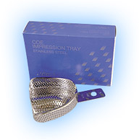 COE #S4 Medium Upper Full-Arch Stainless Steel Perforated Impression Tray. #264041