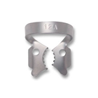 iSmile #12A winged stainless steel rubber dam clamp, matte finish, single clamp