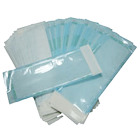"3.50"" x 10"" Self-Sealing Paper/Blue Film Sterilization Pouch with Color Changing Indicator, Box of 200."