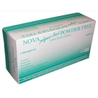 Nova Latex Exam Gloves: MEDIUM 100/Bx. Powder-Free, Textured, Non-Sterile. Polymer lined, low