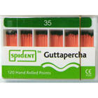 Spident Gutta Percha Points size #35, Hand Rolled / Color Coded, Package of 120