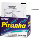 Piranha Diamonds FG #847.018 Coarse Grit, Flat-End Taper, Single Use Diamond Bur. Package of 25